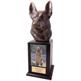German Shepherd Cremation Dog Tower Urn- Walnut